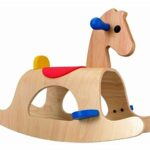 Palomino Wooden Rocking Horse Toy